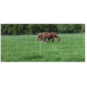 Spezial Pferdenetz Weidezaun Euro Netz weiß 9 Pfähle 30,5 m