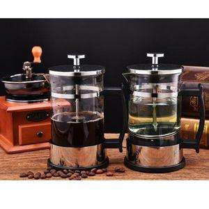Haushalt Edelstahl French Press Tee Kaffeemaschine Karaffe 350ml 1 2Cup