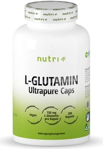 nutri+ vegane L-Glutamin Kapseln Ultrapure, 150 Kapseln