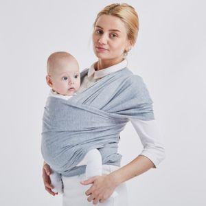 Tragetuch Baby - Babytrage Neugeborene und Kleinkinder bis 16Kg (Grau)