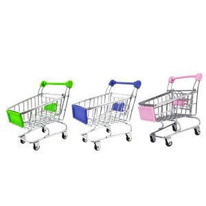 3 Stücke Mini Einkaufswagen Trolley Spielzeug Kinder Vorschule Rollenspiel Spielzeug