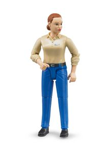 BRUDER Woman with light skin tone and blue trousers, Mehrfarben, Weiblich, Junge/Mädchen, 4 Jahr(e), Kunststoff, 1 Stück(e)