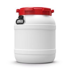 55 L Liter Curtec Weithalsfass Schraubdeckel Drehdeckelfass weiß Kanu Bootsfass (55 CT)
