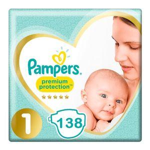 Pampers Premium Protection Große 1 - 138 Windeln Monatsbox