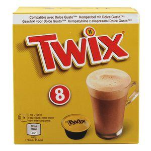 Twix Hot Chocolate Pods 8 x 17g  Dolce Gusto kompatibel 136g