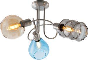 Nino Leuchten Deckenleuchte 3flg PESARO - Nickel matt - für 3xE14,max.40W; 60580301
