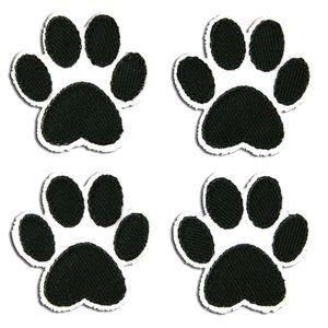 Set Hundepfote - Aufnäher, Bügelbild, Aufbügler, Applikationen, Patches, Flicken, zum aufbügeln, Größe: 3,6 x 3,6 cm