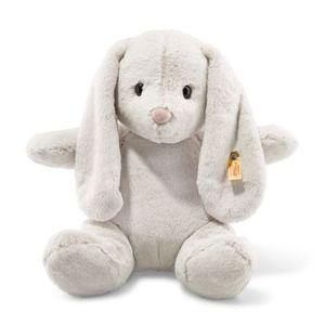 Steiff 080487 Soft Cuddly Friends Hoppie Hase Kuscheltier | 38 cm hellgrau