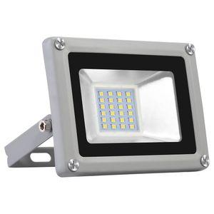 20W LED Strahler 1600LM Außenleuchte LED Fluter Außenstrahler Flutlicht IP65 Flutlichtstrahler Scheinwerfer Kaltweiß Licht für Garten, Garage, Sportplatz, Hotel, 1 Stück