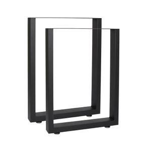 Bankkufen 30x43 cm schwarz pulverbeschichtet Tischkufen Bankbeine Möbelkufen
