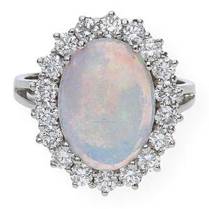 JuwelmaLux Ring 585er Weißgold JL30-07-0480 mit Brillanten und Opal