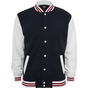 Urban Classics 3-Tone College Sweatjacket, Größe: S; Farbe: Navy