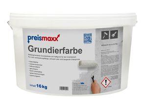 preismaxx Grundierfarbe 16 kg weiss matt Grundierung Haftgrund Innen