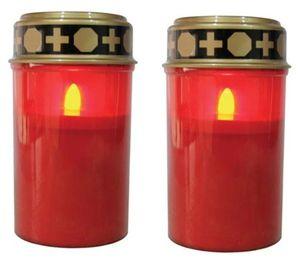 LED-Grablichter 2er Set mit Flackereffekt wie bei einer echten Kerze