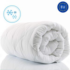 Bettdecke 135x200 Winterdecke Steppdecken Schlafdecke für Winter Herbst Steppbettdecke für Allergiker hypoallergen Microfaser 135 x 200 weiß