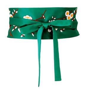 1 Stück Bund Grün 235cm Taillenband Blume Korsettgürtel