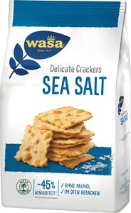 Wasa Delicate Crackers Sea Salt Meersalz ofengebacken hauchdünn 180g