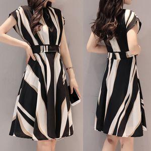 Mode Frauen Sommerkleid O-Ausschnitt Ärmelloses Langes Kleid Lose Freizeitkleid Größe:L,Farbe:Schwarz