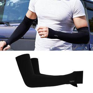 2 Paar Ice Seide Arm Sleeves Ärmlinge Kompression Armstulpen rutschfest Anti UV Running Radsport für Damen Herren
