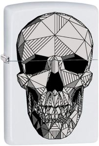 ZIPPO ® Feuerzeug Skull Cubism white matte