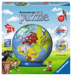 RAVENSBURGER 3D-Puzzle Kindererde Puzzleball Kinderpuzzle 72 Teile ø13 cm