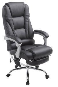CLP Bürostuhl Pacific Kunstleder mit Massagefunktion, Farbe:schwarz