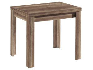 möbelando Esszimmertisch Holztisch Küchentisch Tisch Speisentisch Esstisch Flocke I Wildeiche Trüffel
