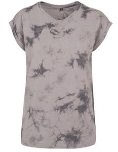 Damen Batik Dye Extended - Farbe: Lightgrey Grey - Größe: XL