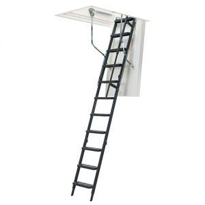 Dolle Bodentreppe clickFIX® comfort 3-teilig bis 244-264cm Raumhöhe mit U-Wert 0,49 Deckenöffnung 120x60cm