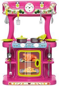 Dohany Spielküche Kinderküche Küchen Set mit 21-tlg. Zubehör Pink