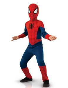 Spiderman-Kostüm für Kinder Karneval rot-blau