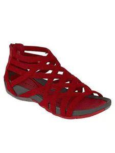 Abtel Damen Hollow Round Toe Schuhe Mode Strandschuhe Sommer Coole Sandalen,Farbe:Rot,Größe:38