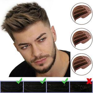 Herren wie Echthaar Kurz Perücke Haarteile Natürliche Vollhaar Männer Perücke DE