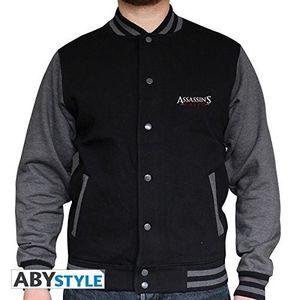 ASSASSIN'S CREED - 'Crest' College Jacke black / dark grey, Größe:XL