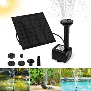 Solarbrunnen mit monokristallinen Silizium-Sonnenkollektoren, 4 Brunnenstile, zur Gartendekoration, Vogelbad, Teichbrunnen