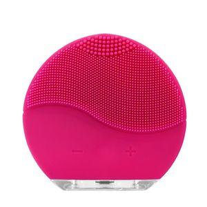 Gesichtsreiniger USB wiederaufladbare wasserdichte Silikon Gesichtsbürste Gesichtsreinigungsbürste Porenreinigung Massagegerät