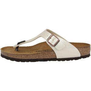BIRKENSTOCK Gizeh Damen Zehentrenner Beige Schuhe, Größe:39