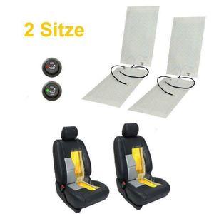 Crenex 2 Set 4 Stück Auto Carbon Universal Sitzheizung Heizmatten Nachrüstsatz für Auto KFZ PKW 2 Stufen mit Schalter 12V