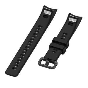 Silikon Armband für Huawei Honor Band 4 / Band 5 Smart Watch Ersatz Armband Schwarz