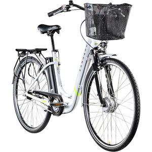 Zündapp Z517 700c E-Bike E Cityrad Damenrad Pedelec Elektrofahrrad Damen Fahrrad 28 Zoll, Farbe:weiß/grün, Rahmengröße:48 cm