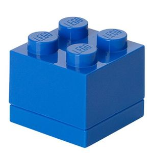 LEGO mini-Speicherstein 4 Noppen 4,6 x 4,3 cm Polypropylen blau