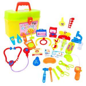 30 Stücke Kinder Doktor Rollenspiel Spielzeug - Arztkoffer mit verschiedene Werkzeuge