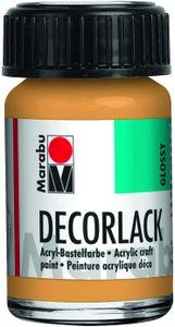 "Marabu Acryllack ""Decorlack"" metallic gold 15 ml im Glas"