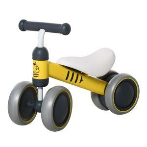 HOMCOM Kinder Laufrad Lauffahrrad Balance Bike 18-24 Monate Alu-Legierung PP Gelb 49 x 19 x 35 cm
