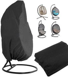 210D Black Swing Chair Staubschutzhülle Schaukel Hängesessel Eggshell Rattan Swing Cover 190x115CM