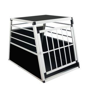 Hundebox Transportbox 65x91x69cm Hundetransportbox Aluminium Reisebox Gitterbox L