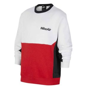 Nike B Nsw Nike Air Ls Crew White/University Red/Black S