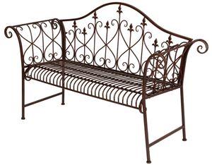 (DPD) Metall-Gartenbank, rusty-braun