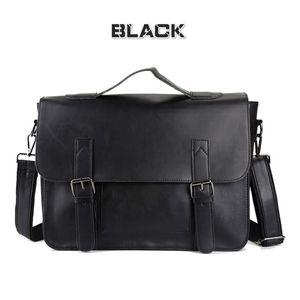 SanBenas Tasche Herren Leder Aktentasche Männlicher Mann Laptoptasche Naturleder für Männer Kuriertaschen Herren Aktentaschen (schwarz)