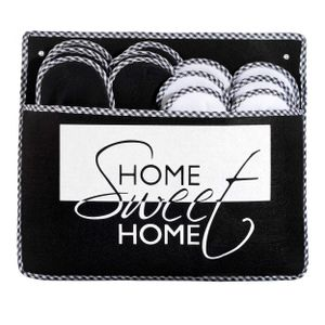 ABS Gästepantoffel HomeSweet 6er Set, Antirutsch